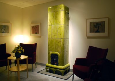 Green tiled stove, based on the theme Forest Moss